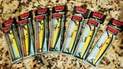 Lot Of 7 - Rapala Original 3 1/2 Floating Lure - F09 Bho In Bleeding Hot Olive