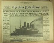 New York Times April 16 1912 Sinking Of The Titanic Commemorative Special 98