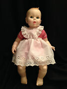 Vintage Gerber Baby 17 Inch Doll Red White Gingham 50th Anniv Moving Eyes 1979