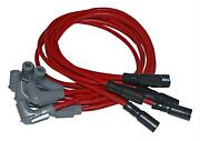 Msd Spark Plug Wires Spiral Core 8.5mm Red Stock Boots Chevy Corvette 5.7l Set