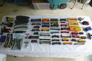 Vintage Huge Lot Of Ho Scale Trains And Tracks Marklin Bachmann Jouef Athearn