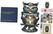 Rare Jigsaw Beautiful Adults And Children For Made Of Wood Owl Unique Animals