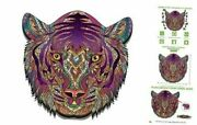 Rare Jigsaw Beautiful Made Of Wood 3d Wooden Animals Shaped Puzzle Tiger For The