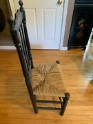Antique American Side Chair Having Turning Orb Form Finials Stamped Hb