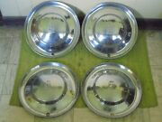 1953 Plymouth Hub Caps 15 Set Of 4 Wheel Covers Hubcaps 53