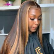 Ali Coco 4/30 Highlight Colored Human Hair Wigs Pre Plucked Lace Front Human Ha
