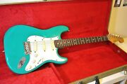 1988 Vintage Fender Stratocaster Plus Made In Usa Bahama Green Tweed Hsc