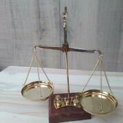 Antique Gold And Diamond Weighing Scales//brass Balance Scale//made In India Bra