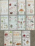 Colorbok Susan Branch Months Of Year Stickers 11 Sheets Jan-oct, Dec Scrapbook