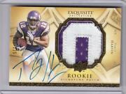 Percy Harvin 2009 Exquisite Auto Jersey Patch Rc 225