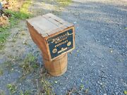 Large Antique Maryland Biscuit Company Wood Crate Box From Shamokin Pa.