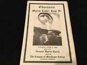 1968 Collectible Funeral Program Dr. Martin Luther King