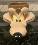 Wile E. Coyote Mug Looney Tunes Plastic Features Xtra Long Snout