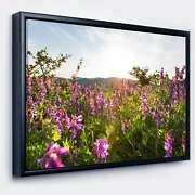 Designart And039amazing Summer Pasture With Flowersand039 Floral Small