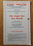 The Eagle Has Two Heads Lyric Theatre Programme 1946 Jean Cocteau Play 1940s