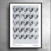 For Sweden Only Andy Warhol Marilyn Monroe Black And White Poster