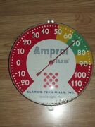 Vintage Amprol Plus Outdoor Thermometer Tw Oand039connell Chicago Clarks Shamokin Pa