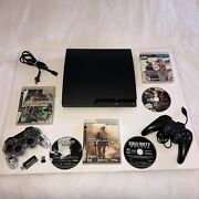 Sony Ps3 Playstation 3 250gb Console Bundle Lot With 6 Games 2 Controller