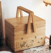 Winnie The Pooh Sewing Box With Tray Wooden Classic Pooh Bellemaison Exclusive