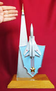 Soviet Military Statue Fighter Mig-23 And Rocket Missile Signed Model Russian Ussr