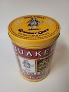 Vintage Collectible Quaker Oats Advertising Tin Container