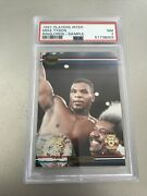 1991 Ringlords Mike Tyson Sample Card Nm Psa 7 Very Rare Ring-lords Card.