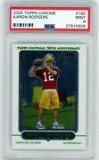 Aaron Rodgers 2005 Topps Chrome Rookie Card Rc Psa 9 Mint Green Bay Packers 190