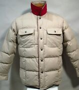 Orvis Menand039s Reversible Goose Down Puffer Jacket Sz M