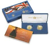 Lot 2 Set 400th Anniversary Mayflower Voyage Two-coin Gold Plus Silver Metal Usa