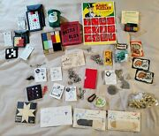 Huge Lot Vintage Magic Trick And Supplies Puzzles And Books