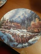 Lot Of 3 Bradford Exchange Trains Of The Great West Collectible Plates