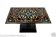 2and039x4and039 Marble Dining Table Top With 28 Stand Multi Inlaid Mosaic Home Decor H462