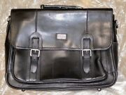 The British Belt Company Lanlay Leather Briefcase Black Made In Uk Brand New