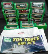 Lot Of 17 Miniature Hess Trucks 1999-2014 W/4 Bags Never Removed From Box