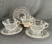 Fostoria American Footed Cup And Saucer 3 Sets