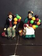 Vintage 2 Royal Doulton The Balloon Man And The Old Balloon Seller Figurines