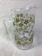 Vintage Pyrex Crazy Daisy Spring Blossom 7andrdquo Clear Glass Pitcher With Handle