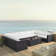 Biscayne 7 Piece Outdoor Wicker Seating Set In White - Four White 7-piece Sets