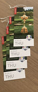 4 Tickets Thursday 9/23/21 Grounds Ryder Cup Tickets/golf/whistling Straits