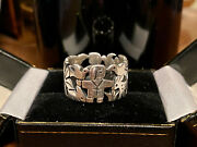 James Avery St Francis Vintage Discontinued Silver St Francis Ring