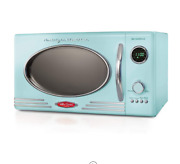 Retro Large 800w Countertop Microwave Oven 12 Pre-programmed Cooking Digital
