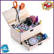 Professional Wooden Sewing Basket Set With Box Premium Brand New