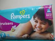 Vintage 1 Pack Of 16 Pampers Size 7 Cruisers Diapers With Sesame Street Designs