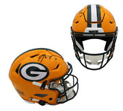 Aaron Rodgers Signed Green Bay Packers Speed Flex Authentic Nfl Helmet