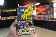 Conkey's Agency Poultry Stock Remedies Porcelain Metal Sign Gas Oil Chicken Egg