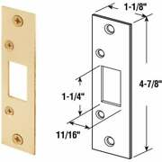 Defender Security Brass 1-1/4 In. Security Strike Plate E 2432 Pack Of 5