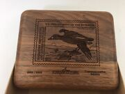 Schrade 2002/2003 Federal Duck Stamp Commemorative Carved Wood Box Lot Of 11