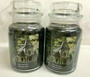 Village Candle Lot 2 Haunted Mansion Jar Candle Two Wick Halloween