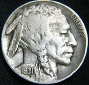 Sharp Original 1931-s Buffalo Nickel 5andcent Only 99andcent Shipping Gn50mi