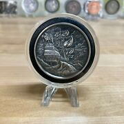 The Storm Privateer Series 2 Oz Silver Ultra High Relief Round - Antiqued